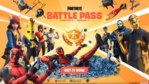 Fortnite artwork showing Season 2 Chapter 2 battle pass