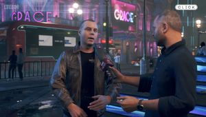 Creative director Clint Hocking rendered in Watch Dogs: Legion