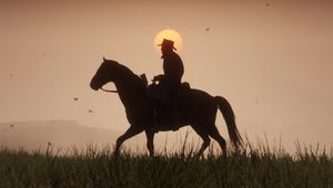 On horseback into the sunset