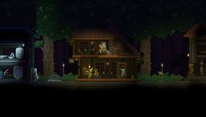Screenshot of a house in Starbound