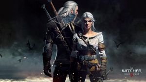 Geralt and Ciri are standing at an undisclosed location, back to back.