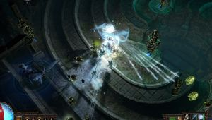 picture showing player casting spells in Path of Exile