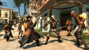Edward Kenway takes on a squad in Assassin's Creed: The Rebel Collection.