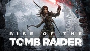 Promotional image for the Rise of the Tomb Raider showing Lara Croft as she enters a cave.