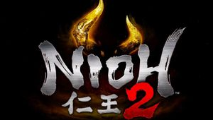 Nioh 2 title logo on black background with red 2