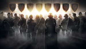 A lot of operators from Rainbow Six Siege in a promotional picture for Pro League.