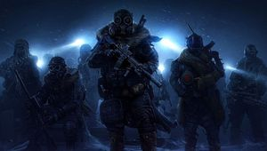 Wasteland 3 artwork of rangers standing in percipitation looking all bzns