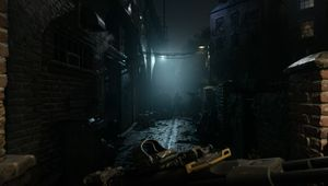 Call of Duty: Modern Warfare screenshot showing a dark alley