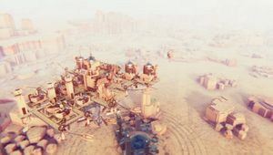 A floating city from the game Airborne Kingdom