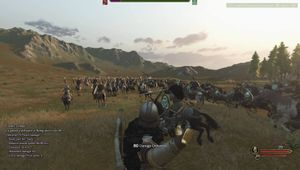 Soldier raising his arm in Mount & Blade 2: Bannerlord