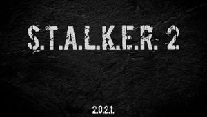 Logo and the announcement date for GSC's game Stalker 2
