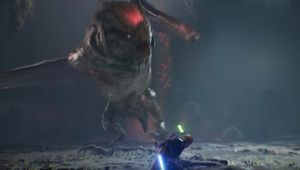 star wars jedi fallen order screenshot showing a boss fight