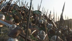 Armies clashing in Mount & Blade 2: Bannerlord