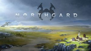 Northgard poster showing northern landscape featured in the game.