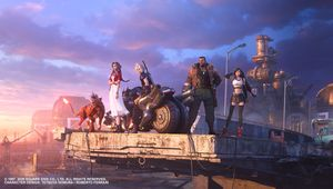 New Final Fantasy VII Remake artwork showing several characters
