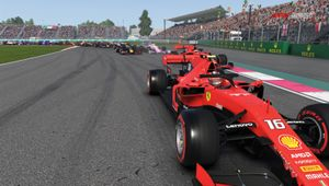 F1 2019 screenshot showing charles leclerc in his red ferrari
