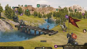 Man running over a bridge in Mount & Blade 2: Bannerlord.