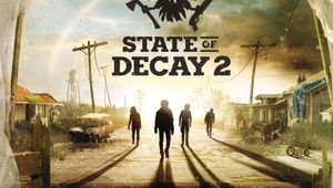 State of Decay 2 promotional posters showing four zombies approaching from a sunset.