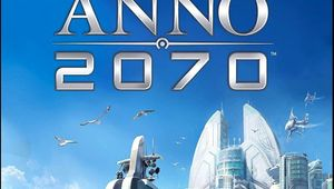 Anno 2070 box cover title image showing tip of city and approaching ship