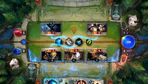 Playing an attack move in Legends of Runeterra.