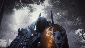 hunter from deathgarden standing in a forest