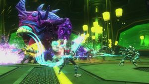 Picture of some people doing a raid in WildStar MMO game