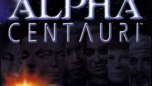 Cover image of alpha centauri game box art image showing faction leaders