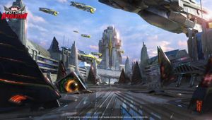 Futuristic city from Marvel Future Revolution