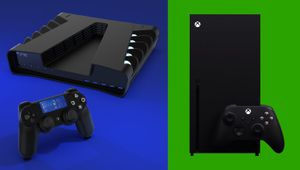 artwork showing PlayStation 5 and Xbox Series X