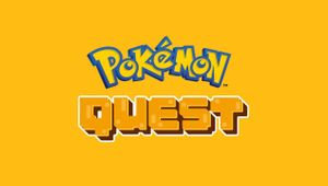 Pokemon Quest's promo picture with yellow backround