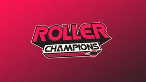 artwork showing roller champions logo on pink background