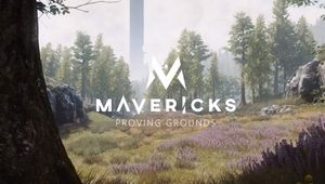Poster for Mavericks: Proving Grounds showing some of the forest from the playable map.