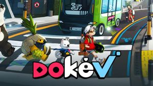 DokeV - Characters crossing a busy street