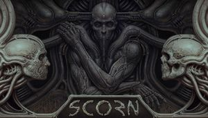 H.I. Giger-inspired cover art for Scorn by Ebb Software