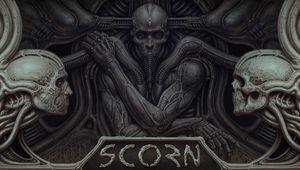 H.I. Giger-inspired cover art for Scorn by Ebb Software