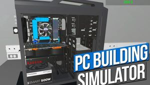 A screenshot of an open PC case with all the PC innards in PC Building Simulator