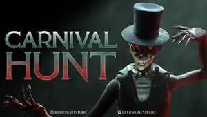 Carnival Hunt key art depicting the the Carnival Monster, with logo