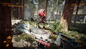Atomic Heart screenshot showing combat