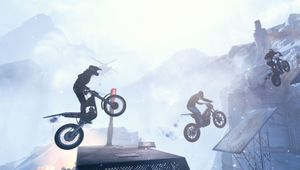 Picture of some dudes jumping around on their bikes in Trials Rising