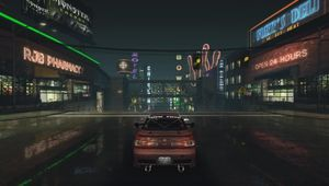 Need for Speed Underground screenshot showing ray tracing graphics