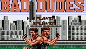 Bad dudes title screen that lets you chose between singledude and multidude modes.