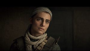 screenshot from modern warfare showing female character farah