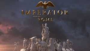 First picture of Imperator: Rome video game, showing a statue of Ceasar hailing at someone