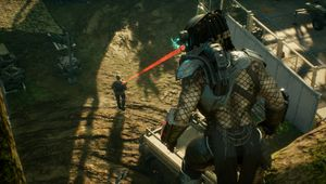 The Predator targets his prey in Predator: Hunting Grounds.