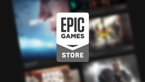artwork showing epic games store logo on a blurry background