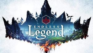 cover box art of endless legend showing game logo on white bacground with terrain and structures