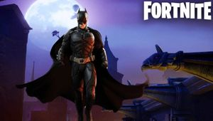 artwork showing batman on fortnite loading screen