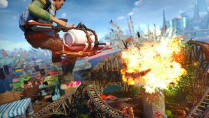 picture showing charachter in Sunset Overdrive causing explosions