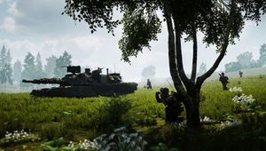 Squad screenshot showing a tank a infantry
