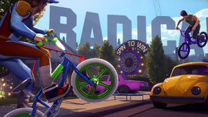 Players are riding their BMXes in Radical Heights.
